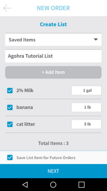 Placing an Order - Step 4 - Agohra Delivery App